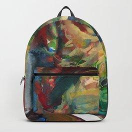 SIGMUND FREUD - watercolor portrait.2 Backpack