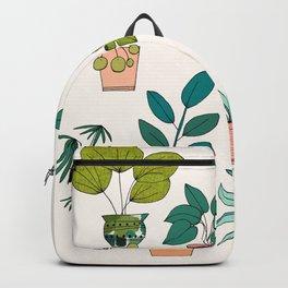 House Plants illustration Backpack