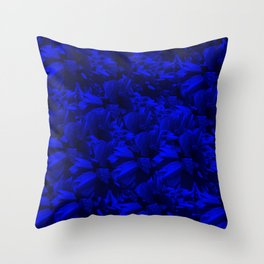 A202 Rich Blue and Black Abstract Design Throw Pillow