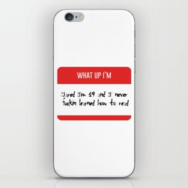 I'm Jared Vine iPhone Skin
