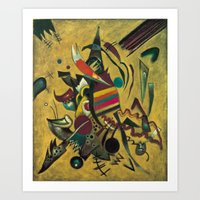 kandinsky Art Prints featuring Wassily Kandinsky 1920 Points by Artlala for MSF Doctors Without Borders