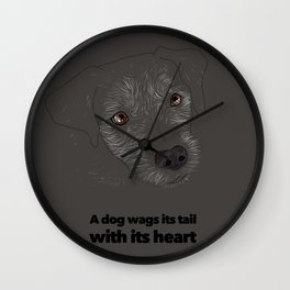 Tail Wagging Wall Clock