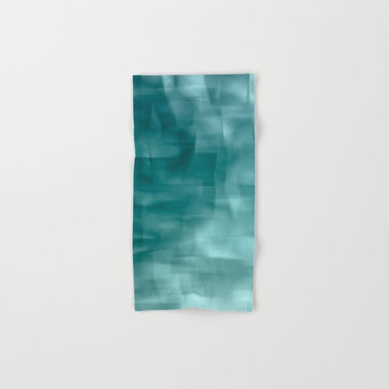 Blue and white abstract ice Hand & Bath Towel