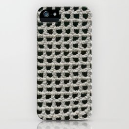 Close up of crochet pattern texture iPhone Case