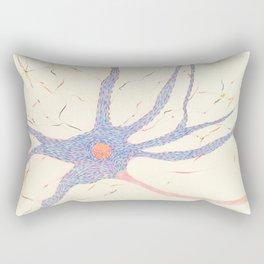 Starry night brain cell. Rectangular Pillow