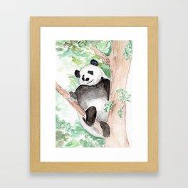 Panda, Hanging Out Framed Art Print