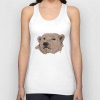 polar bear Tank Tops featuring Polar Bear by Ursula Rodgers