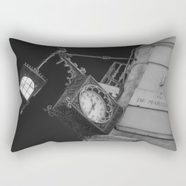 Via de martelli clock and light in Firenze street tuscany italy Rectangular Pillow
