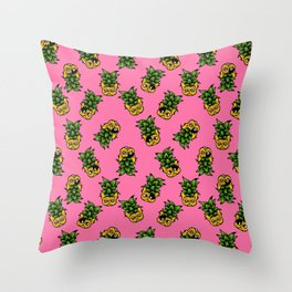 Pineapple Frenchie Throw Pillow