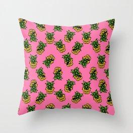 Pineapple Frenchie Throw Pillow