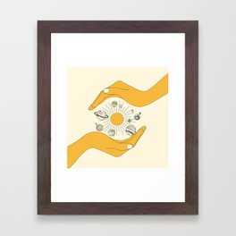 The Universe in Your Hands Framed Art Print