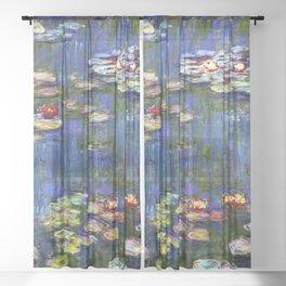 Claude Monet Water Lilies III Sheer Curtain