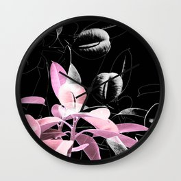 Pink Black Beauty Wall Clock