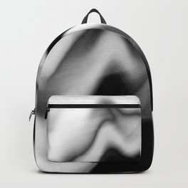 Black and White Gradient Abstract Wavy Chevron Gray Mountain Scenic Pattern Design Minimalistic Backpack