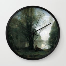 Jean-Baptiste-Camille Corot - Solitude Recollection of Vigen, Limousin Wall Clock