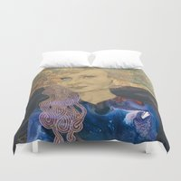 tina crespo Duvet Covers featuring Tina by Nina Schulze Illustration