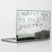 poetry Laptop & iPad Skins featuring poetry by Willow Summers