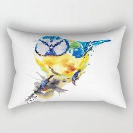 Tiny Colorful Bird Rectangular Pillow