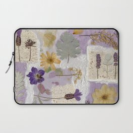 Lavender Collage Laptop Sleeve