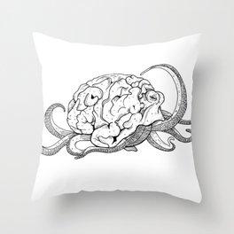Brainoctopus Throw Pillow