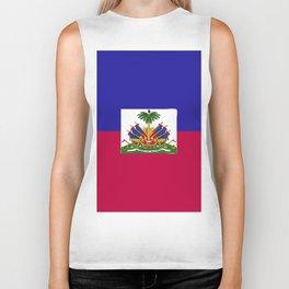 Haiti flag emblem Biker Tank