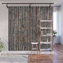 Willow fence Wall Mural
