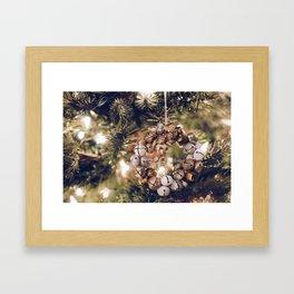 Jingle Bell Wreath on Christmas Tree (Color) Framed Art Print