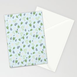 Cheerful Leaf Pattern Stationery Cards