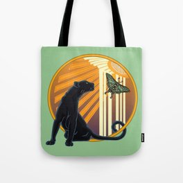 Jaguar Plain Art Deco Tote Bag