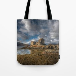 Eilean Donan Castle in Highlands of Scotland Tote Bag