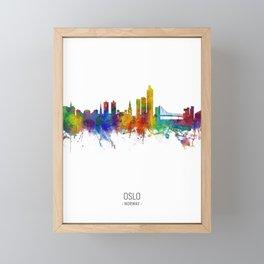 Oslo Norway Skyline Framed Mini Art Print
