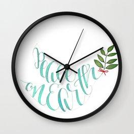 Peace on Earth Holiday Dov Wall Clock