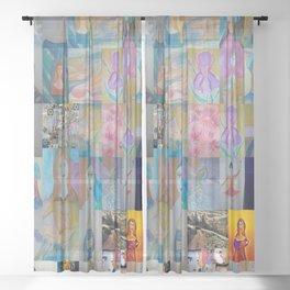 Brenda Winters art  Sheer Curtain
