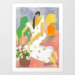Fifi Dress Art Print