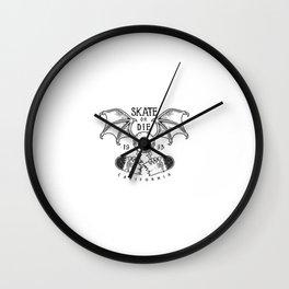 Logotipo Skate Vintage Wall Clock