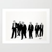 reservoir dogs Art Prints featuring Reservoir Dogs. by AmyLianneMuir