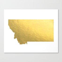 Montana State Printable Art Montana Art Printable Montana Map Printable Faux Gold Foil Printable Wal Canvas Print
