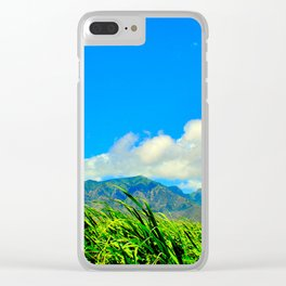 Maui Cane Feilds Clear iPhone Case