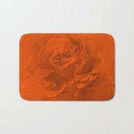 Bloomed Rose Warm Orange Bath Mat