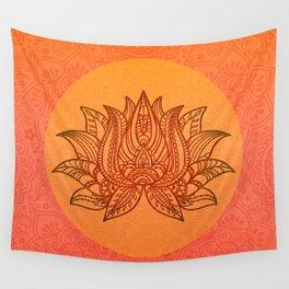 Lotus Flower of Life Meditation  Art Wall Tapestry