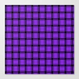 Violet Weave Canvas Print