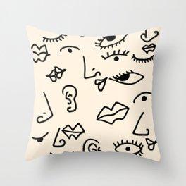 Senses #drawing #abstract Throw Pillow