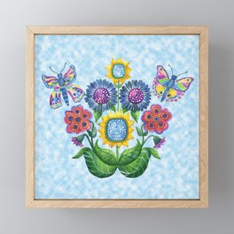 Butterfly Playground on a Summer Day Framed Mini Art Print