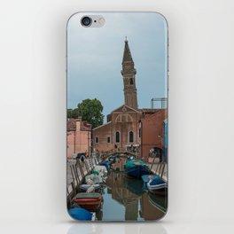 Burano Island Italy Canal Boats iPhone Skin