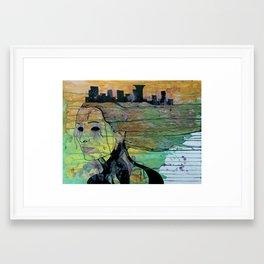 green city girl Framed Art Print