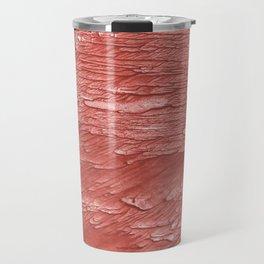 Brick red nebulous wash drawing paper Travel Mug