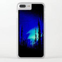 Aurora Borealis Forest Vibrant Clear iPhone Case