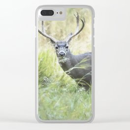 Stag in Yosemite Clear iPhone Case