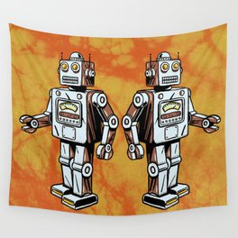 Retro Robot Toy Wall Tapestry