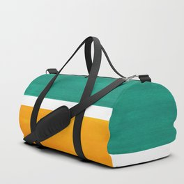 Colorful Bright Minimalist Rothko Minimalist Midcentury Art Marine Green Gold Vintage Pop Art Duffle Bag